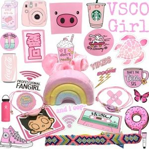VSCO Girl 13 Piece Pink No Mystery Boxed Gift Set